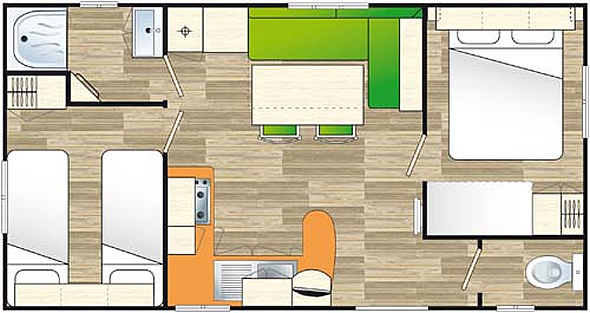 Plan Mobil Home 4/6 places IRM